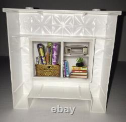 2018 Barbie Dreamhouse Replacement Part, Reversible White Fireplace/Book Shelf