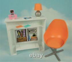 2018 Mattel BARBIE 360 Dreamhouse Replacement PARTS Lot FIREPLACE, Lamp, CHAIR +