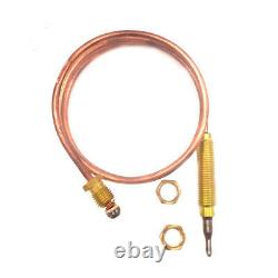 24\ Hermocoupler Fireplace Gas Thermocoupler Grill Heater Parts Replacement