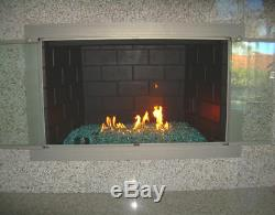 36 SS H Burner, Fireplace, Firepit, Fireglass Fire Pit