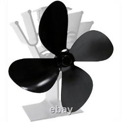 4-Blade Fan Blade Replacement Parts for Heat Powered Stove Fireplace Fan
