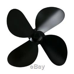 4 Blades Aluminum Alloy Blade For Stove Fan Fireplace Replacement Parts Accs