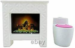 Barbie Replacement Parts Dream-House 1 Doll Size Fireplace & 1 Sound Toilet