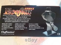 Caframo 812AM-XBX Ecofan Airmax Model 812AM Heat Powered Wood Stove Fan, Black