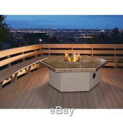 Cal Flame 48-Inch Propane Gas Fire Pit Table Hexagon Coffee Height