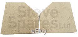 Charnwood Island 2 (mk2) Fire Brick & Baffle Set 011/by48s / 010/by47