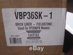 Emprie VFD36FB Fireplace Fieldstone Refractory Panel Set Model VBP36SK-1