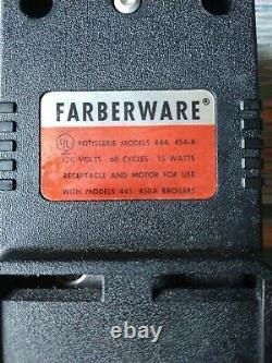 Farberware Open Hearth Rotisserie Broiler Motor Model 444 454-A Replacement Part