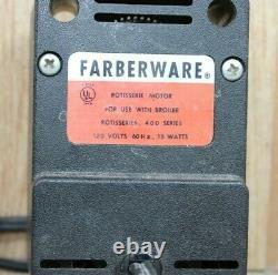 Farberware open hearth grill rotisseries motor 400 series replacement Model 435