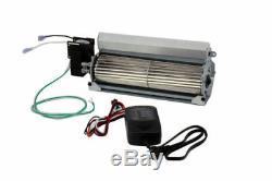 Fireplace Blower Fan Kit with Speed Control Knob Temperature Controlled 165 CFM