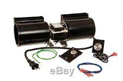 Fireplace Blower Fan Kit with Speed Control Knob Temperature Controlled 180 CFM