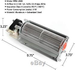 Fireplace Blower Fan Replacement Parts for Continental Napoleon Rotom HB-RB58
