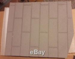 Fireplace Firebox Brick Pattern Liner Kit Cut to Fit