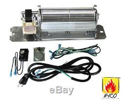 GZ550 Replacement Fireplace Blower Fan KIT for Continental Napoleon Rotom