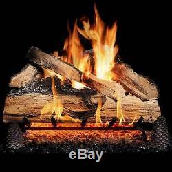 GasLogGuys 24 Inch Grand Mountain Split Oak Gas Logs (Logs Only / NO Burner)