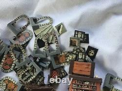 HeroQuest Original Furniture Replacement Lot Fireplace Table Bookcase Parts Dice