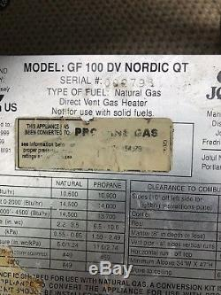 Jotul GF 100 DV Nordic QT cast iron Gas Stove Green Enamel- Propane Cape Cod