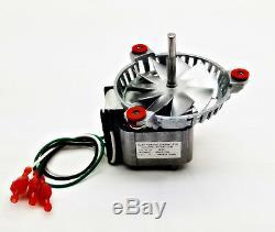 Kozi 100, Baywin, Previa, KSH120 Combustion Fan Motor + 4 3/4 PH-UNIVCOMBKIT