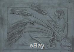 Lastra, piastra, piana, camino, fuoco, ghisa, figurata, ornata. Spiga 50x70 cm LB-036