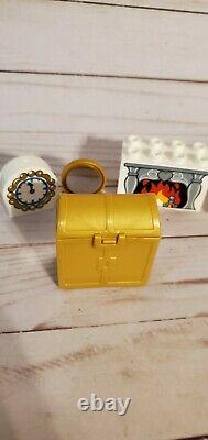 Lego Duplo Cinderella Castle Chest Fireplace Clock + replacement parts LOT 6154