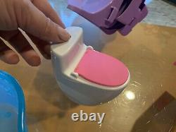 Lot Barbie Town House 2016 Replacement Parts Bed Water Slide Fireplace Toilet