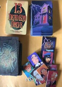Milton Bradley 13 Dead End Drive Game Replacement Parts Cards Pawns Halloween