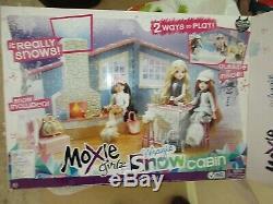 Moxie GirlzMagic Snow Cabin-Replacement Parts-Fireplace Log Lantern Lot F34