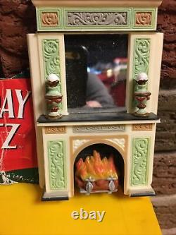 Mr. Christmas Holiday Waltz Replacement Parts Pieces Plastic Wall Fireplace Lot