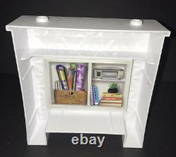 NEW Barbie Dream House 2018 Replacement Part Fireplace & Bookshelf