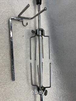 ORIGINAL Farberware Rotisserie Spit Rod Turning Rod & Forks Plus Support
