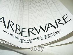 ORIGINAL MANUAL/RECIPE Farberware 455N Rotisserie Open Hearth Grill NOT A COPY