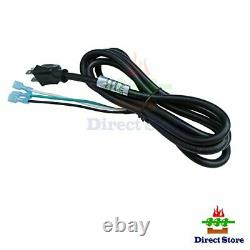 Parts Kit Replacement Fireplace Blower Fan with 3 Prong Power Cord Silver