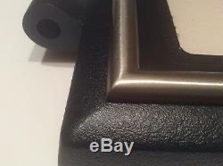 Quadrafire 3100, 4300 Wood Stove Door, Nickel Trim DR-31/43NL-FH