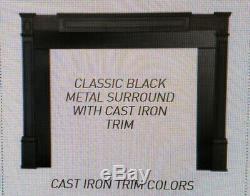 Quadrafire Cast trim kit, classic black, pellet insert