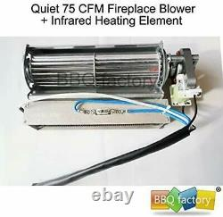 Replacement Fireplace Stove Blower Fan Unit Steel Heating Parts Accessories NEW