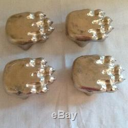 Set of 4 Original FISHER Grandma WOOD STOVE Bear Paw Claw Feet Stamped Eugene OR