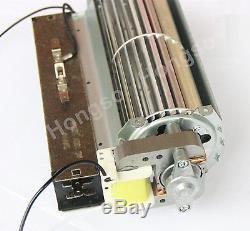 Twin Star Electric Fireplace Blower Fan + Heating Element (motor on left side)