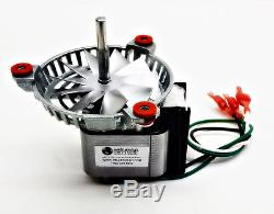 US Stove King Combustion Exhaust Fan Motor Blower 80473 + 4 3/4- PH-UNIVCOMBKIT