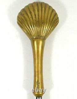 Vintage Sea Shell Damper Chimney Flu Hook Fireplace Tool Part Replacement
