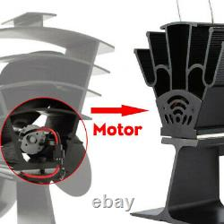 Wood Log Heated Fireplace Motor Stove Burner Power Fan Heater Replacement Parts